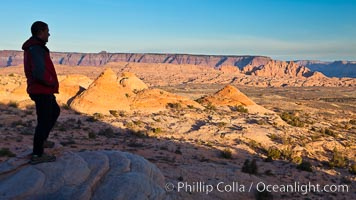 Teepee rocks with the Vermillion Cliffs in the distance, Page, Arizona