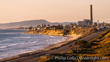 Sunset on Terra Mar and the Carlsbad coastline, looking north to Oceanside, Camp Pendleton and San Onofre