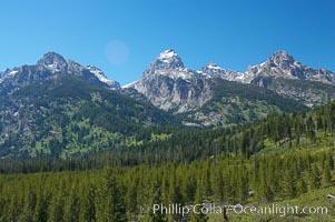 The Teton Range, summer, Grand Teton National Park, Wyoming
