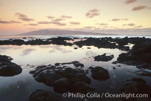 Tidepools and Molokai from west Maui
