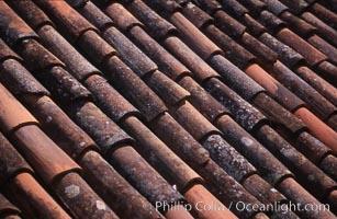 Tile rooftop, Ponta Delgada, Sao Miguel Island