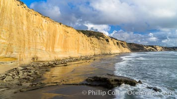 Torrey Pines cliffs. Torrey Pines State Reserve, San Diego, California, USA, natural history stock photograph, photo id 29134