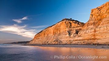 Torrey Pines sea cliffs, Torrey Pines State Reserve, San Diego, California