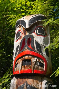 Totem pole, Capilano Suspension Bridge, Vancouver, British Columbia, Canada