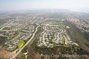Tract homes, near Interstate 5 freeway, Carlsbad, California
