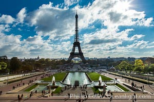 Trocadero. The Trocadero, site of the Palais de Chaillot, is an area of Paris, France, in the 16th arrondissement, across the Seine from the Eiffel Tower., natural history stock photograph, photo id 28259