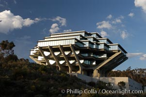 UCSD Library (Geisel Library, UCSD Central Library). University of California, San Diego, La Jolla, California, USA, natural history stock photograph, photo id 06477