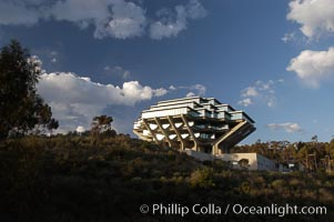 UCSD Library (Geisel Library, UCSD Central Library). University of California, San Diego, La Jolla, California, USA, natural history stock photograph, photo id 06478