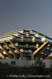 UCSD Library (Geisel Library, UCSD Central Library). University of California, San Diego, La Jolla, California, USA, natural history stock photograph, photo id 06454
