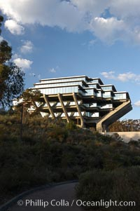 UCSD Library (Geisel Library, UCSD Central Library). University of California, San Diego, La Jolla, California, USA, natural history stock photograph, photo id 06459