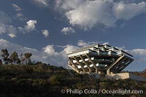UCSD Library (Geisel Library, UCSD Central Library). University of California, San Diego, La Jolla, California, USA, natural history stock photograph, photo id 06466