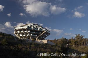 UCSD Library (Geisel Library, UCSD Central Library). University of California, San Diego, La Jolla, California, USA, natural history stock photograph, photo id 06467