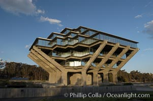UCSD Library (Geisel Library, UCSD Central Library). University of California, San Diego, La Jolla, California, USA, natural history stock photograph, photo id 06475