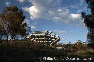 UCSD Library (Geisel Library, UCSD Central Library). University of California, San Diego, La Jolla, California, USA, natural history stock photograph, photo id 06476