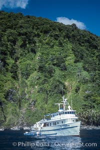 Boat Undersea Hunter at Cocos Island