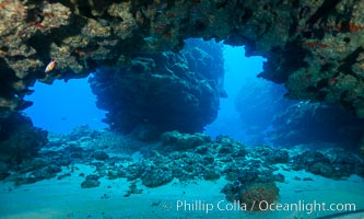 Underwater cavern, Grand Cayman Island