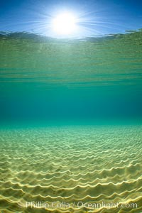 Underwater Light and Sand, Lake Tahoe, Nevada