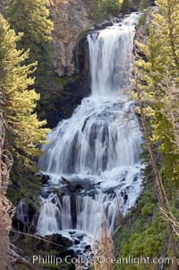 Undine Falls, between Mammoth and Tower in Yellowstone National Park, marks where Lava Creek drops 110 feet in two sections