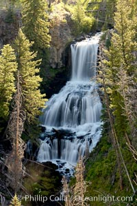 Undine Falls, between Mammoth and Tower in Yellowstone National Park, marks where Lava Creek drops 110 feet in two sections. Yellowstone National Park, Wyoming, USA, natural history stock photograph, photo id 13308