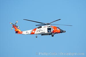 United States Coast Guard HH-60 Jayhawk helicopter in flight