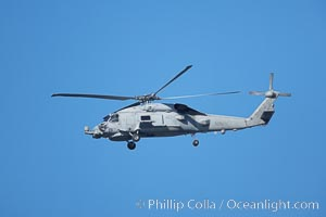 United States Navy helicopter in flight