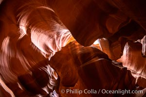 Upper Antelope Canyon, a spectacular slot canyon near Page, Arizona, Navajo Tribal Lands