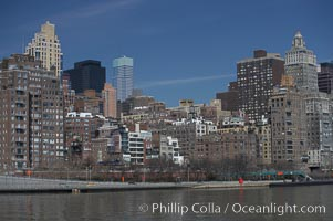 New York Citys Upper East Side, viewed from the East River. Manhattan, New York City, New York, USA, natural history stock photograph, photo id 11134