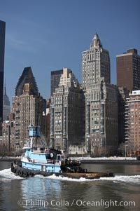New York Citys Upper East Side, viewed from the East River, Manhattan