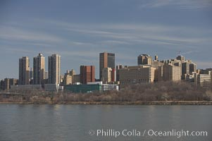 New York Citys Upper West Side, viewed from the Hudson River, Manhattan