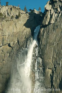 Yosemite Falls, winter, Yosemite Valley. Yosemite Falls, Yosemite National Park, California, USA, natural history stock photograph, photo id 06995