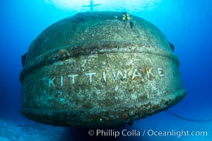 USS Kittiwake wreck, sunk off Seven Mile Beach on Grand Cayman Island to form an underwater marine park and dive attraction. Grand Cayman, Cayman Islands, natural history stock photograph, photo id 32141