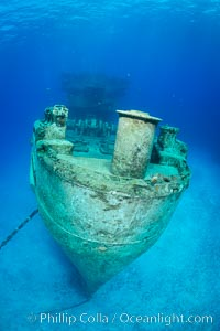 USS Kittiwake wreck, sunk off Seven Mile Beach on Grand Cayman Island to form an underwater marine park and dive attraction. Grand Cayman, Cayman Islands, natural history stock photograph, photo id 32144