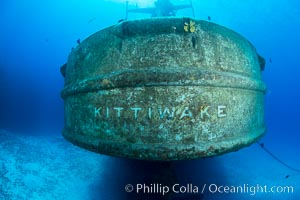USS Kittiwake wreck, sunk off Seven Mile Beach on Grand Cayman Island to form an underwater marine park and dive attraction. Grand Cayman, Cayman Islands, natural history stock photograph, photo id 32147