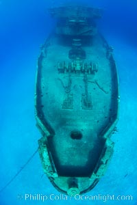 USS Kittiwake wreck, sunk off Seven Mile Beach on Grand Cayman Island to form an underwater marine park and dive attraction. Grand Cayman, Cayman Islands, natural history stock photograph, photo id 32150