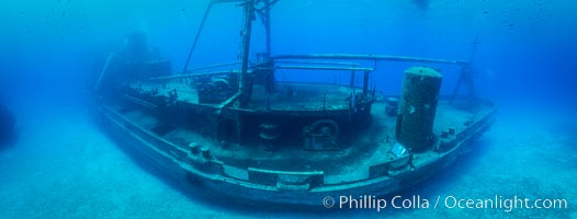 USS Kittiwake wreck, sunk off Seven Mile Beach on Grand Cayman Island to form an underwater marine park and dive attraction., natural history stock photograph, photo id 32255