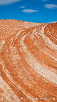 Striated sandstone formations, layers showing eons of geologic history. Valley of Fire State Park, Nevada, USA, natural history stock photograph, photo id 26479