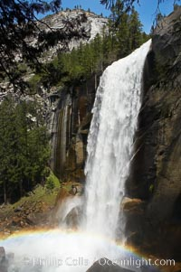 Vernal Falls at peak flow in late spring, viewed from the Mist Trail. Yosemite National Park, California, USA, natural history stock photograph, photo id 12639
