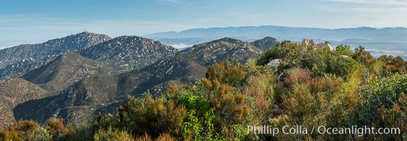 View from Iron Mountain, over Poway and San Diego