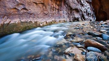 Virgin River Narrows. Zion National Park, Utah, USA, natural history stock photograph, photo id 26399