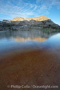 Vogelsang Lake, and Vogelsang Peak (11516') at sunrise in Yosemite's High Sierra, Yosemite National Park, California