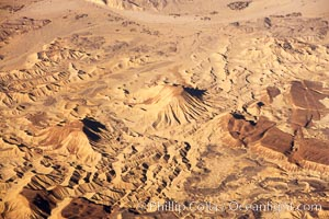 Volcanic cinder cones and foothills, west of Salton Sea