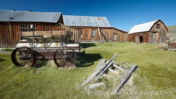 Wagon and Miner's Union Hall, Bodie State Historical Park, California