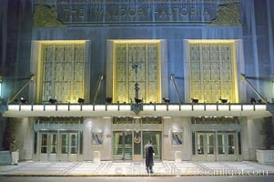 Lonely doorman at the Hotel Waldorf Astoria. Manhattan, New York City, New York, USA, natural history stock photograph, photo id 11181