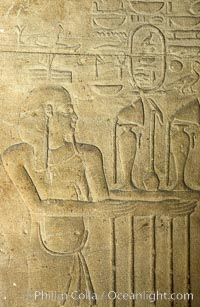 Wall detail, Karnak Temple complex. Luxor, Egypt, natural history stock photograph, photo id 18471