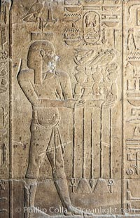 Wall detail, Luxor Temple. Egypt, natural history stock photograph, photo id 18474