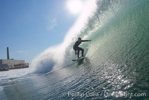 Kyle Cannon, Jetties, Carlsbad, morning surf. Warm Water Jetties, California, USA, natural history stock photograph, photo id 17906