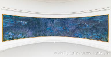 """Water Lilies, Claude Monet, Musee de l""""Orangerie, Musee de lOrangerie, Paris, France"""
