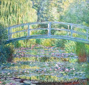Water Lily Pond, Green Harmony, 1899, Claude Monet, Musee d'Orsay, Paris. Musee dOrsay, Paris, France, natural history stock photograph, photo id 35615
