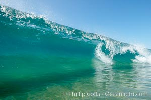 Tropical-looking summer water, the Wedge, The Wedge, Newport Beach, California