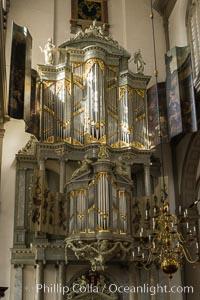Westerkerk Organ Pipes, Amsterdam. Amsterdam, Holland, Netherlands, natural history stock photograph, photo id 29442